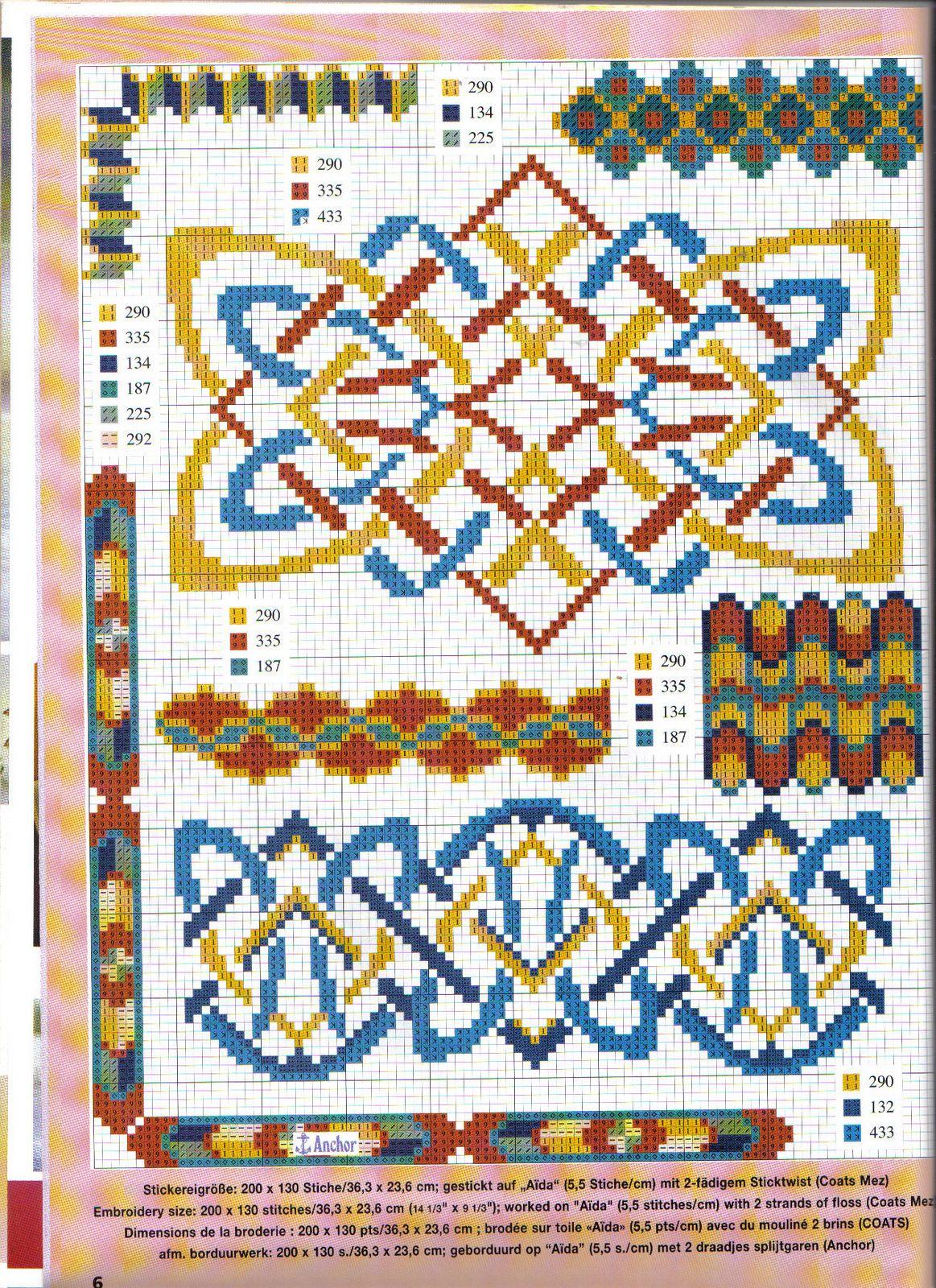 Кельтские орнаменты в вышивке крестом